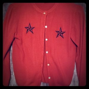 Vintage red button up cardigan